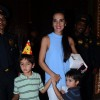 Tara Sharma with her Kids at Aaradhya Bachchan's Birthday Bash