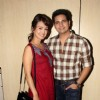 Karan Mehra with wife Nisha Rawal at Premiere of Play 'Double Trouble'
