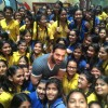 John Abraham with Kids of Billabong High School in Thane