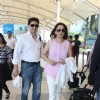 Madhuri Dixit with husband Dr. Nene Snapped at Airport