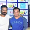 Sohail Khan and Suniel Shetty at Mumbai Heroes Match