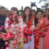 Twinkle Khanna and DImple Kapadia at Inaugration of 'Ranka' Jewellers in Pune