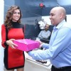 Esha Gupta being felicitated at the Store Launch Of Amante