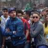 Neha Dhupia and Yuvraj Singh at Kolkata - Marathon