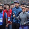 Yuvraj Singh and Neha Dhupia at Kolkata - Marathon