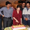 Tammanah cuts her Birthday cake during Celebrations on Oopiri Sets