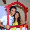 Richa Chadda and Sushant Singh Rajput pose for the media at Khidkiyan Theater Festival