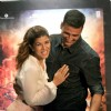 Akshay Kumar and Nimrat Kaur snapped in a beautiful pose at the Promotions of Airlift