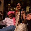 Amitabh Bachchan and Jacqueline Fernandez looking happy