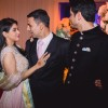 Akshay Kumar Greets Asin Thottumkal and Rahul Sharma at their Wedding Reception