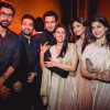 Rana Daggubati, Raj Kundra and Shilpa Shetty Poses with Asin & Rahul Sharma at Wedding Reception