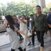 Mahendra Singh Dhoni and Sakshi Dhoni Snapped at Airport