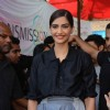 Sonam Kapoor poses for the media at the Promotions of Neerja at Xaviers College