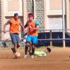 Celebs Snapped Practicing Soccer