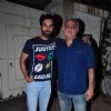 Rajkummar Rao and Hansal Mehta at Special Screening of 'Aligarh'