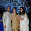 Shobhaa De poses with her Daughter and Son-in-law