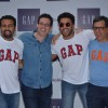 Ranveer Singh poses with the Team at Gap Jeans Store Launch