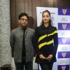 Sonam Kapoor with Ram Madhvan at Pro Kabaddi in Delhi