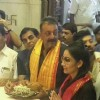 Sanjay Dutt and Manyata Dutt at Siddhivinayak Temple post Sanjay's Release from Yerwada Jail