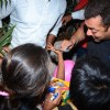 Salman Khan Distributes books to street Kids Outside Olive