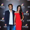 Tara Sharma with husband Roopak Saluja at Colors TV's Red Carpet Event