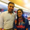 Anuja Sathe Presents an Award at ICC T20 World Cup