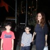 Sussanne Khan Snapped with her Kids!
