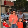 Manyata Dutt with kids Iqra Dutt and Shahraan Dutt