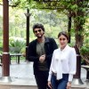 Arjun Kapoor and Kareena Kapoor posing for the cameras at the Press Meet of Ki and Ka