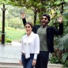Arjun Kapoor strikes a funny pose with Kareena Kapoor at the Press Meet of Ki and Ka