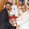 Ajay Devgn Recieves Padma Shri from President Pranab Mukherjee at Padma Awards 2016 Ceremony