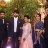 Ram Charan with Chiranjeevi's Daughter and her Husband at  Wedding Reception!