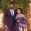 Chiranjeevi Poses with wife at Daughter's Wedding Reception!