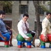Aamir Khan, R Madhavan and Sharman Joshi in the movie 3 Idiots