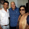 Sharman Joshi and Prem Chopra and Bappi LahiriMahurat of Film Sayonara Phir Milenge at Lahiri House