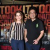 Adnan Sami with his wife Roya Faryabi at Special Screening Of 'Traffic'