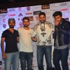 Arjun Kapoor, Abhishek Bachchan, Virat Kohli and Ajinkya at Press Meet of Virat Kohli Foundation