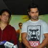 Varun Dhawan  and Sajid Nadiadwala at Song Launch of movie 'Dishoom'