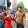 Damsel Shraddha Kapoor and John Abraham Snapped at 'Mehboob Studio'