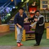 Arshad and Kapil on the sets of Kapil Sharma