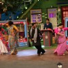 Arshad, Kiku and Maria on the sets of Kapil Sharma