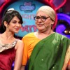 Sudesh Lahiri and Jennifer Winget in Laughter Ke Phatke show