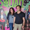 Divya Palat and Aditya Hitkari at Premeire of Suicie Squad