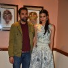 'The pretty' Diana Penty and Abhay Deol poses for the shutterbugs while promoting Happy Bhag Jayegi!
