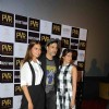 Ileana D'Cruz, Akshay Kumar and Esha Gupta at Press Conference of 'Rustom' in New Delhi