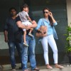 Sohail Khan with  Seema Sachdev Khan snapped at Arpita's house for Rakhi Celebration with Family