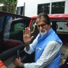 Big B snapped in a Bohemian look for a Tata Sky Ad