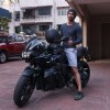 Sushant Singh snapped on his BMW bike