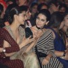 Lets talk! Deepika Padukone and Karisma Kapoor at Grand Finale of Lakme Fashion Show 2016