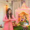 Hrishita Bhatt welcomes Eco friendly Lord Ganesha
